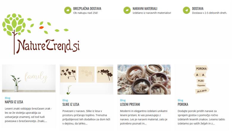 NatureTrend.si izdelki iz lesa